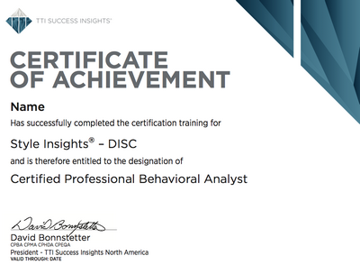 Disc Certification Training And How To Use It In Sales
