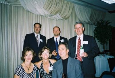 Mark Sills, Walt Hallman, (do not know name of this AHS Grad Hubby), Deanna Brown, Annette Haggard & Todd Sease - at the 20th Reunion