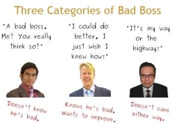basic management skills - bad boss, good boss